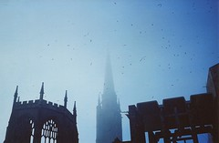 Ffs (Adele M. Reed) Tags: mist film photoshop 35mm spire angry coventry bullshit ruined specks