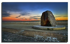Sea Defence Monument, Dymchurch. (pete stone) Tags: monument kent seawall hdr seadefence dymchurch shepway canoneos5d sunsettime kentcoast