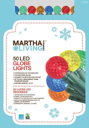MARTHA STEWART GLOBE LIGHTS