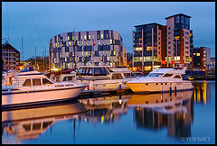 Ipswich - Neptune Quay Boat Reflections (Yen Baet) Tags: uk longexposure greatbritain england reflection water architecture marina river boats suffolk twilight dock ancient europe riverside unitedkingdom britain dusk scenic quay british bluehour ipswich eastanglia quayside anglosaxon   europeancities neptunemarina neptunequay orwellriver orwelllady neptunesmarina neptunesquay   victorianwetdock