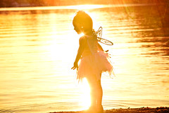 Imagination has no bounds (lunahzon) Tags: sunset orange lake art beach beautiful sand sweet creative artsy charlottenc solarflare sunflare highfashion fairycostume fairywings lkn fairygirl lunahzonphotograhy lakenormanlunahzonphotography 3yroldlgirl