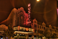 Musicbox Theatre, Lakeview Neighborhood, Chicago, IL (pauljsolomon) Tags: postcard photocontest southport hdr musicbox thisislakeviewcontest