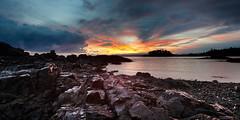 Flame On Baby (Gavin Hardcastle - Fototripper) Tags: ocean sea sun canada reflection water clouds sunrise canon rocks bc tripod nanaimo vancouverisland neckpointpark anawesomeshot 5dmkii