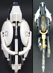 Shiro Murakumo-- Head and Tail (tobyhein) Tags: lego space scifi revision starfighter