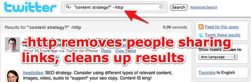 """""""content strategy?"""" -http - Twitter Search"""