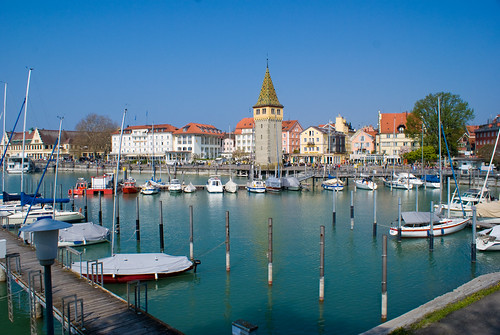 Harbor of Lindau Germany