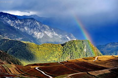 Somewhere Over the Rainbow (nawapa) Tags: china countryside place chinese shangrila yunnan zhongdian losthorizon jameshilton earthasia nawapa