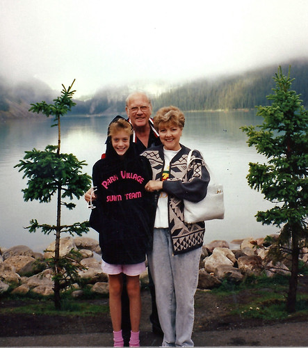 Nana & Grandpa Lake Louise Banff Aug 1991
