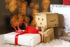 Danbo (butacska) Tags: christmas xmas red bokeh gift present danbo
