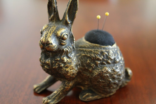 Antique Pin Cushion Rabbit