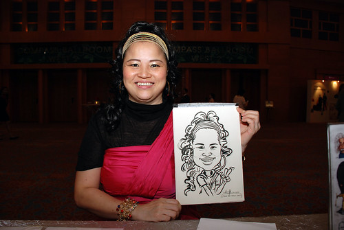 caricature live sketching for Ernst & Young D&D 2010 - 1