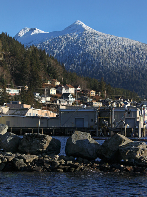 snow-capped Deer Mountain from the water, Ketchikan, Alaska