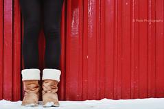 Happy Bench Monday [Snow - Edition] (Mijn Focus Fotografie) Tags: christmas door winter red snow black girl lady boot shoe leiden photo women shoes shoot foto meiden legs sneeuw leg panty been human christmass crop mens framing rood zwart wit vrouw schoenen schoen meisje deur kerst benen legging laarzen meid laars