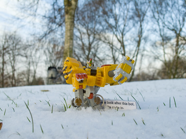 Transformers- robots in the snow!