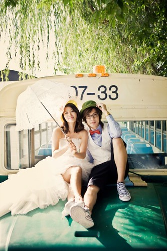 Kim Hyun Joong & Hwang Bo (JoongBo) Wedding Photos