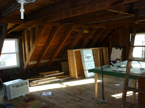 attic - looking towards stairs