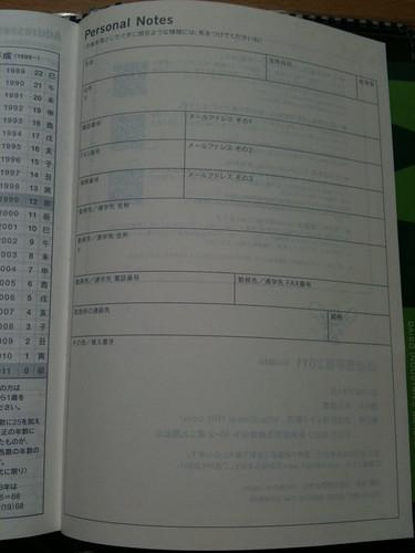 ほぼ日手帳 パーソナルノート