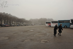 Freezing Versailles (Heidi Zech Photography) Tags: people paris france castle clouds tourists versailles carpark cloudyday louis14 buspark louisthe14 heidizech photosbyheidizech