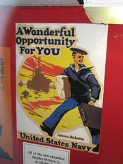 """A Wonderful Opportunity for You"" U.S. Navy recruitment poster (FranMoff) Tags: poster boat ship navy olympia sailor cruiser uss c6 recruitment ca15 protectedcruiser cl15 ix40"