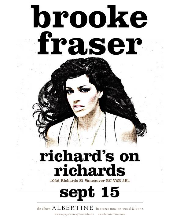Brooke Fraser @ Richards on Richards