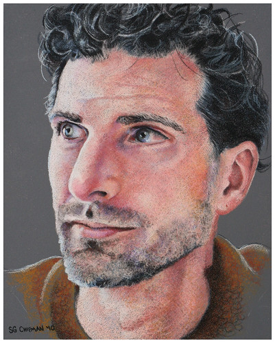 Colored pencil portrait entitled Shawn