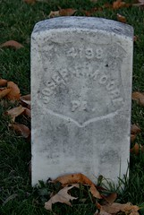 Headstone of Civil War Veteran Joseph Moore, Antietam National Cemetery, Sharpsburg, MD. (goldenanchor) Tags: civilwarveteran sharpsburgmd antietamnationalcemetery josephmoore 28thpennsylvaniavolunteerinfantry