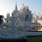 Chiang Rai - Wat Rong Khun (The White Temple) Side view thumbnail