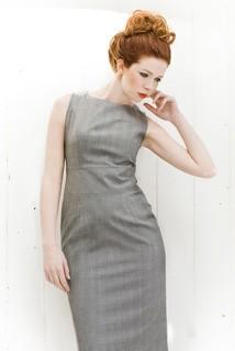 Grey boat dress