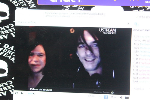 Anton interviewing Bobby from the Warlocks Dec 1, 2010 Bang Bang Club Berlin.