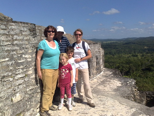 Nana and Grandad with us on Xunantunich