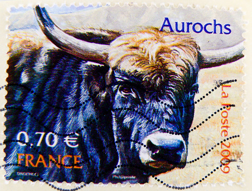 french stamps France 0,73€ 73c La Poste timbre Briefmarke Frankreich Republique Francaise stamps France 0,70€ La Poste timbre Briefmarke Frankreich Republique Francaise RF Aurochs stamp bull Rind cow Kuh