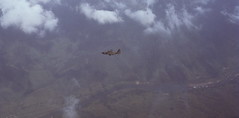 On approach to Khesanh AB,  RVN - 1967 (aviatorr727) Tags: japan thailand army flying mac war bangkok aviation flight navy taiwan f100 korea vietnam f okinawa marines 105 fighters airforce phantom tac usaf hue saigon panam hercules twa danang c130 c141 airlift f4e reddevils khesanh f4c camranhbay pacaf f8u udorn tuyhoa 50thtas