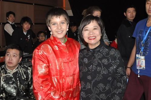 Eddie and Dr. Cheng met backstage