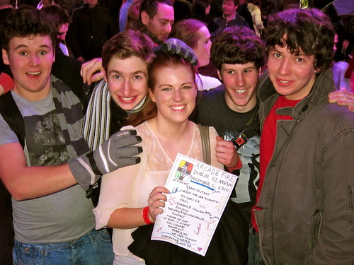 "Set list winners - so cute, the guys came up with her chanting 'we have a winner! we have a winner!"" Crazy Dublin!"