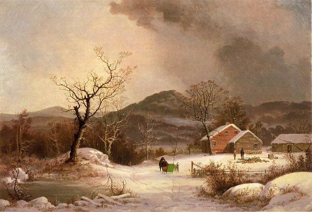Farmstead and Sleigh in Winter 1863