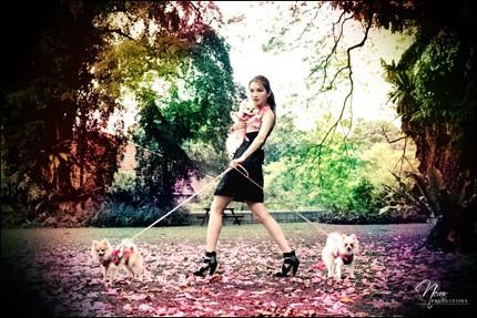 Annie & 3 puppies - 2