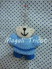 Chaveiro urso polar pequeno (Magali Tricot) Tags: animal tricot infantil bebe beb bichos animais bicho urso trico tric chaveiro ursinho bichinho