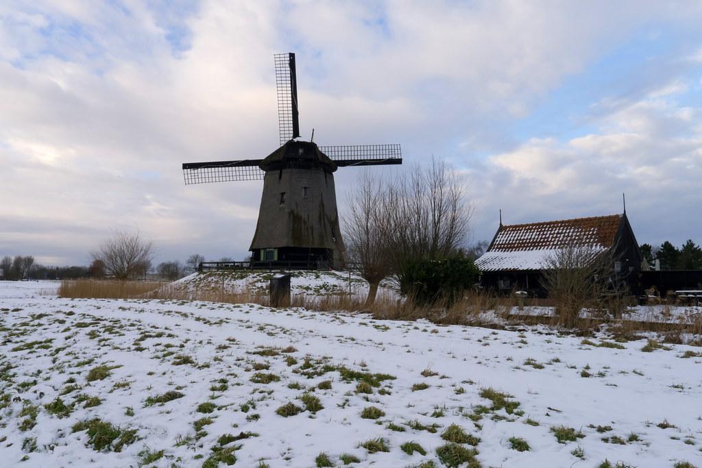 Windmill in the Schermer polder - ondermolen C
