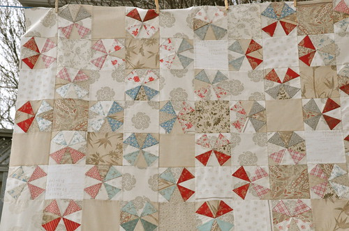 Kaleido quilt top detail