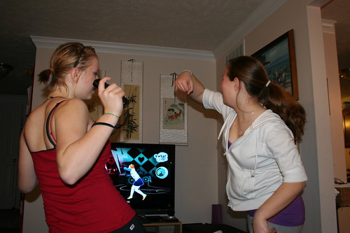12/25/10: Just Dance 2 is a hit with the girls.