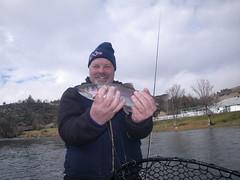 Galen enjoys another steelhead on his first fly fishing steelhead trip! (ShastaTrout) Tags: chrisking klamathriver klamathonlodge