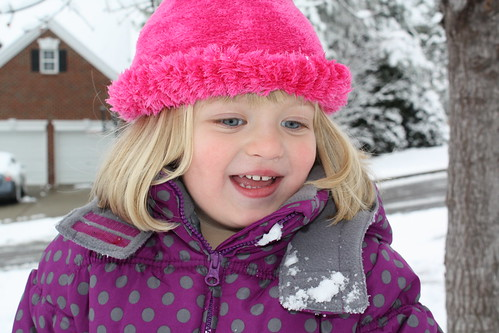 Catie loving the snow