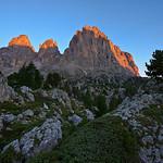 Sunrise at Langkofel Group, Dolomites, Italy
