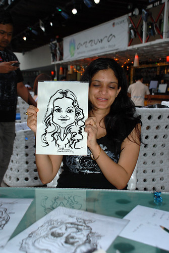 Caricature live sketching for VISA Beach Party 2010 -21