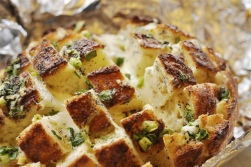 New Year's Eve Appetizers - Blooming Onion Bread