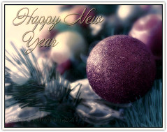 Happy 2011 2° version (in eva vae) Tags: decorations cold macro tree texture closeup glitter canon eva soft dof purple bokeh framed violet christmasballs wishes fir abete natale greeting bows capodanno happynewyear auguri decorazioni 500d fiocchi 2011 bestwishes addobbi bilie canoneos500d eoskissx3 eosrebelt1i inevavae