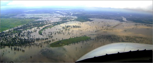 Rockhampton in flood