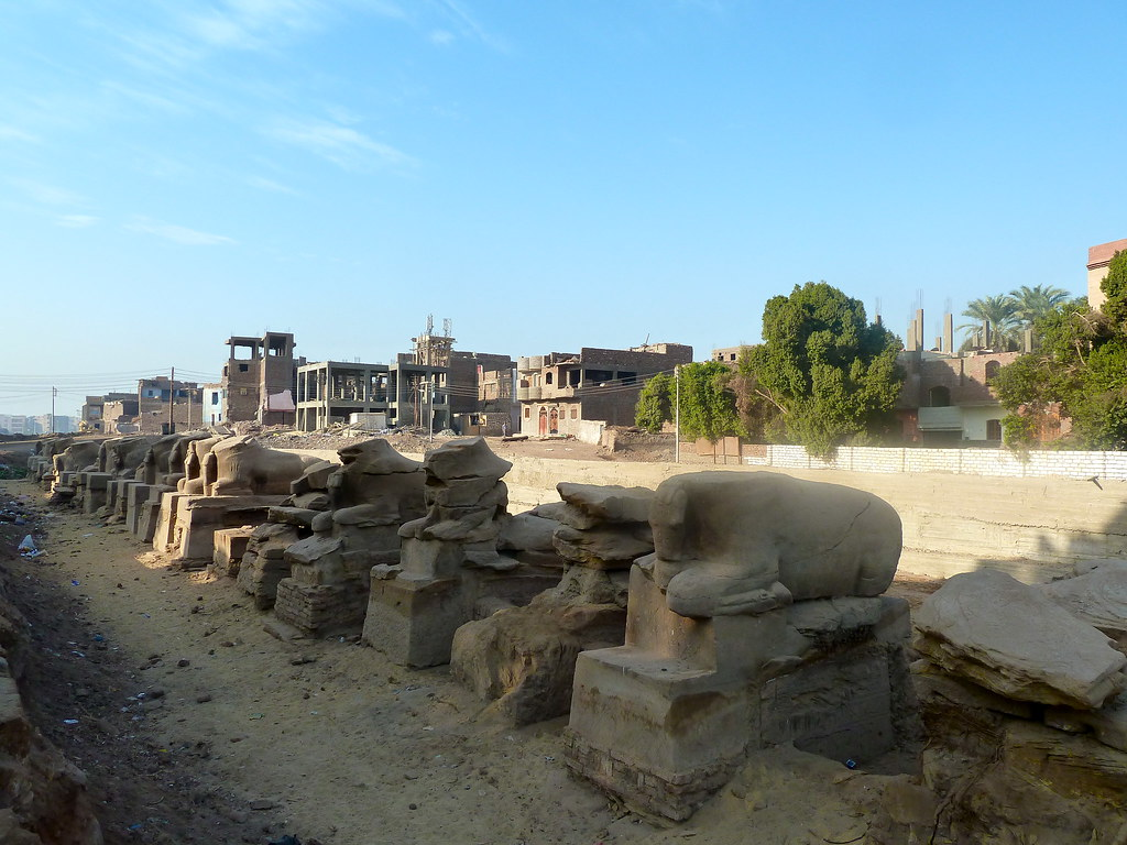 Avenue of the Sphinxes, Karnak Village, ??????, Egypt