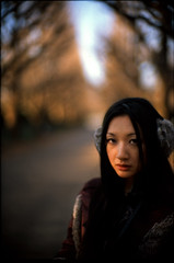 distant light (TommyOshima) Tags: leica winter portrait girl f10 velvia m7 firstlight rvp kinako 2011