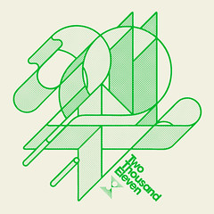 2011 (jeremy pettis) Tags: new two green illustration typography nye year jeremy future type years date eleven avant thousand garde itc 2011 pettis jeremypettis